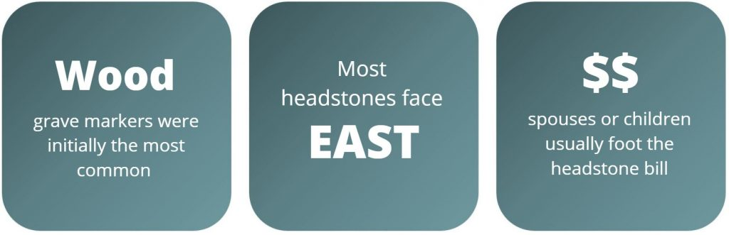 Headstone placement facts