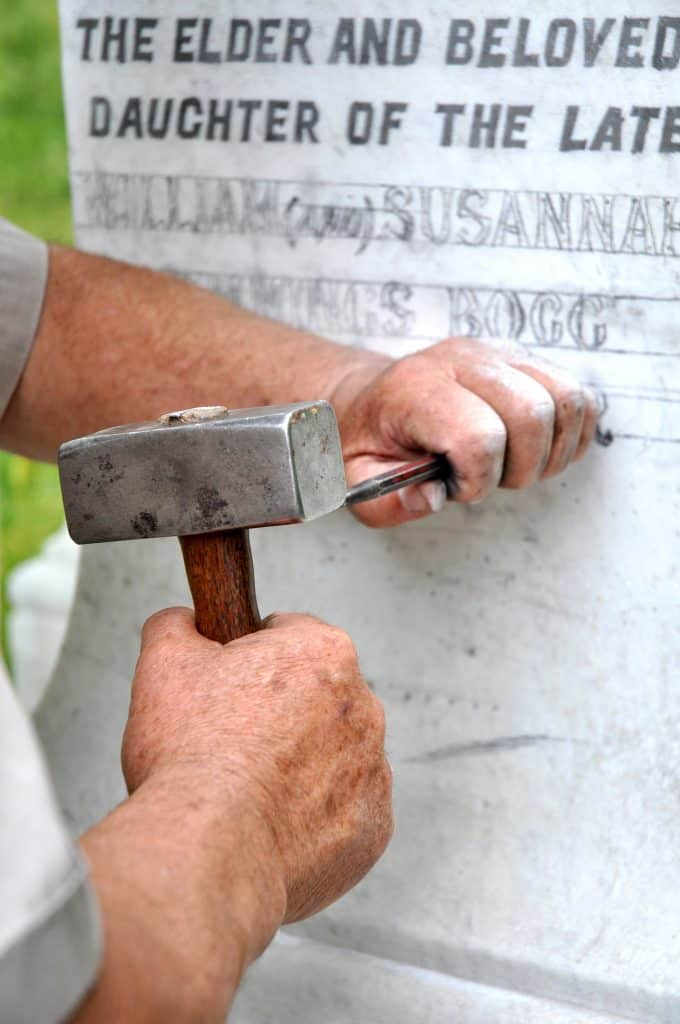 etched headstones